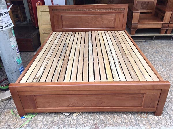 Bộgiường ngủ gỗ xoan đào 2mx2m2
