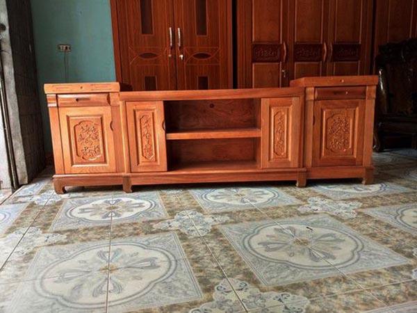 Mẫu kệ tivi gỗ xoan đào đẹp