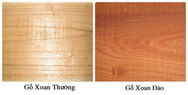 So sánh gỗ xoan đào và gỗ xoan ta
