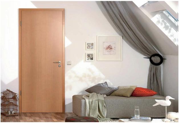 Cửa gỗ thông phòng cao cấp thiết kế đơn giản nhẹ nhàng