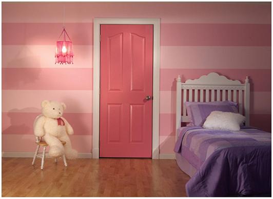 Một mẫu cửa gỗ phòng ngủ cho bé gái đẹp