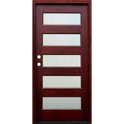 Mẫu cửa gỗ pano kính loại 1 cánh
