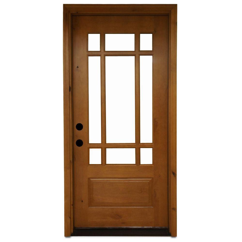 mẫu cửa khung gỗ kính đẹp