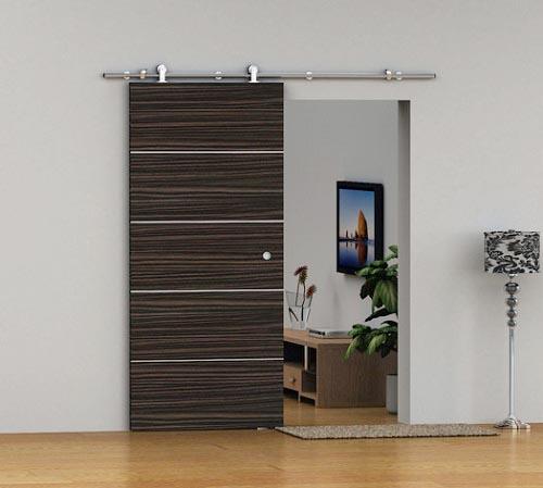 Mẫu cửa lùa gỗ công nghiệp hiện đại cho phòng ngủ