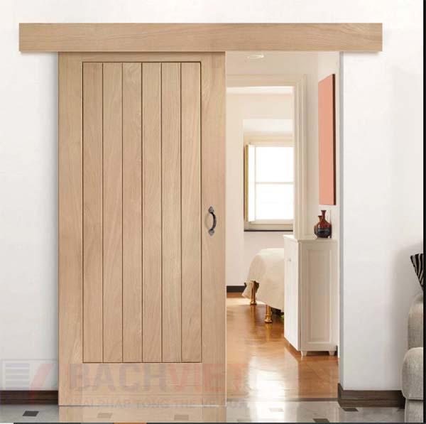 Mẫu cừa lùa gỗ tự nhiên phòng ngủ đẹp hiện đại