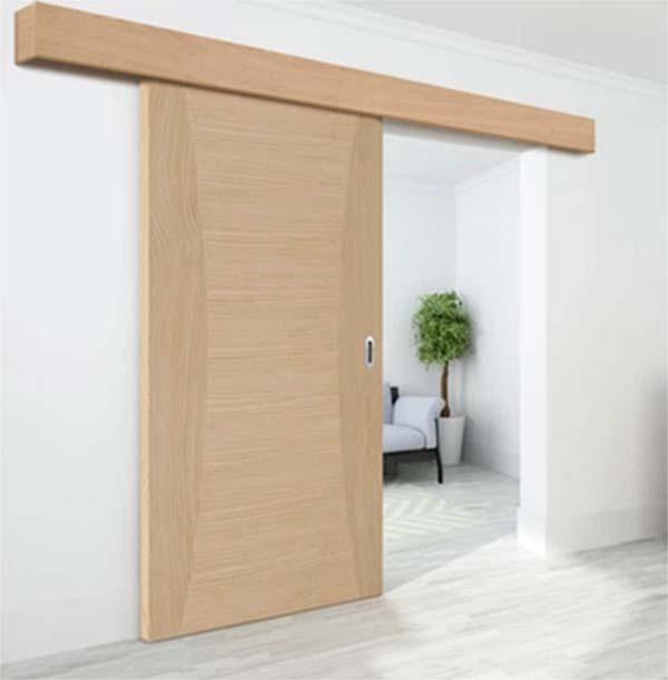 Mẫu cửa gỗ kéo ngăn phòng khách và phòng ngủ