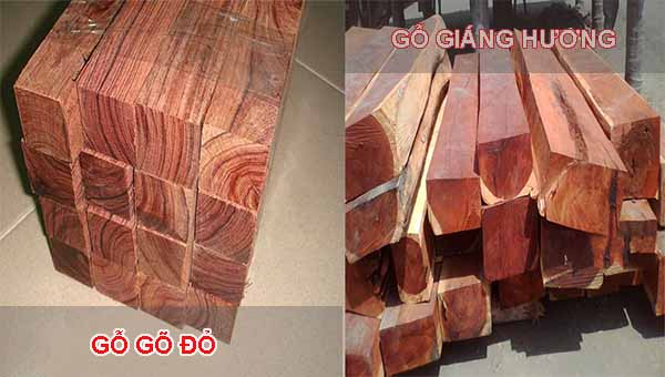 So sánh hương và gỗ gõ đỏ