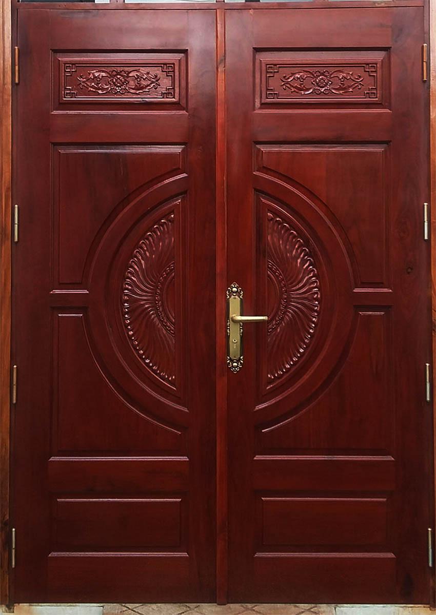 Mẫu cửa gỗ 2 cánh tân cổ điển đẹp