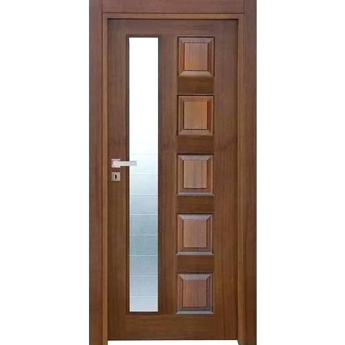 Mẫu cửa gỗ pano kính đẹp loại 1 cánh