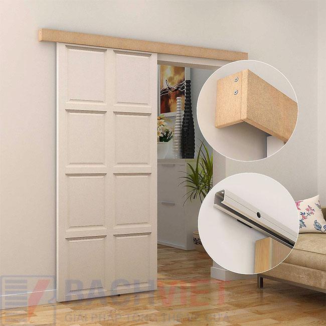 Mẫu cửa gỗ trượt giá rẻ đơn giản