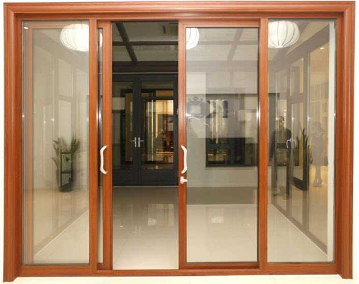 Tay nắm gỗ cửa kính - cửa kính khung gỗ 4 cánh