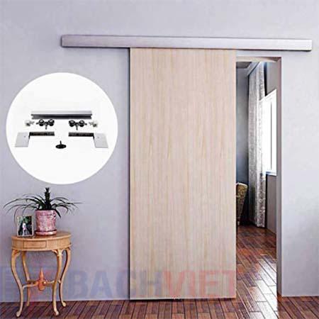 Mẫu cửa gỗ trượt giá rẻ 1 cánh trượt treo