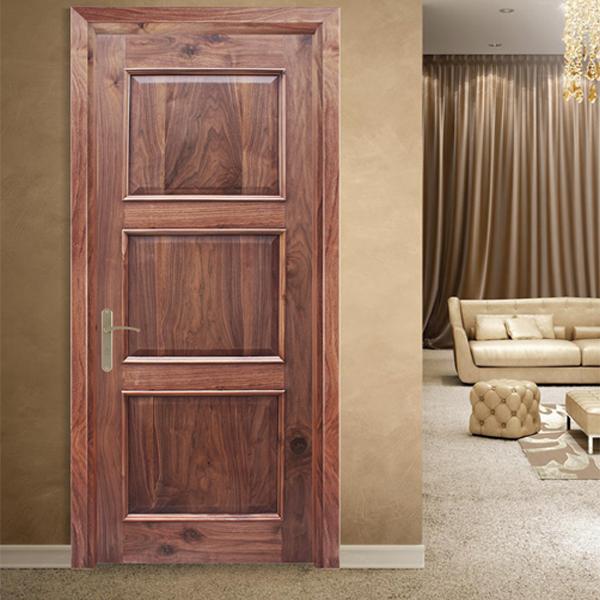Mẫu cửa gỗ tự nhiên solitek khắc hình đa dạng