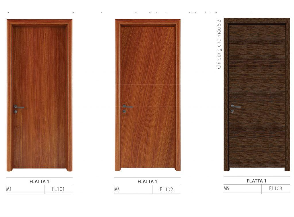 Mẫu cửa gỗ công nghiệp dòng Flatta phẳng trơn